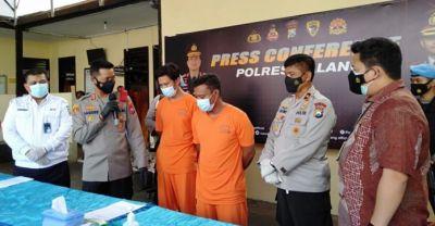 Polres Malang Amankan Karyawan Outsourcing PT KAI Yang Terlibat Pencurian Rel Cadangan di Kepanjen