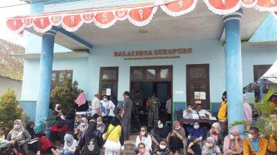 Vaksinasi 665 Dosis Jenis Sinovac di Desa Sukopuro Berlangsung Lancar